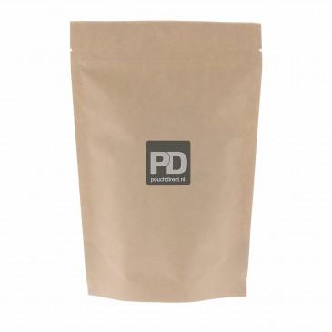 Standbodenbeutel Kraftpapier braun Zweilagig-160x230+45 Aluminiumfrei